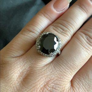 Nadri Jewelry Gunmetal Cocktail Ring Size 7